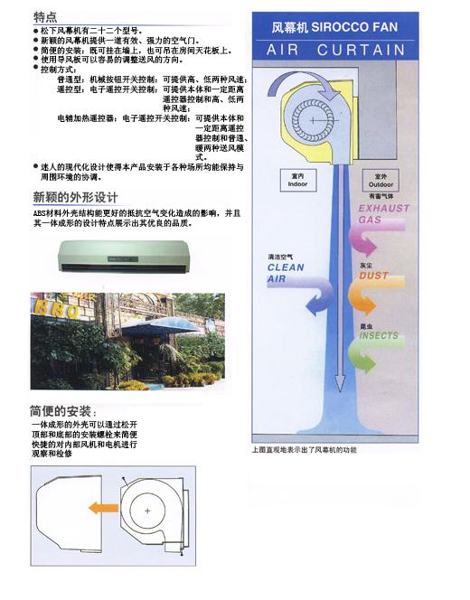 風幕機的原理和功能