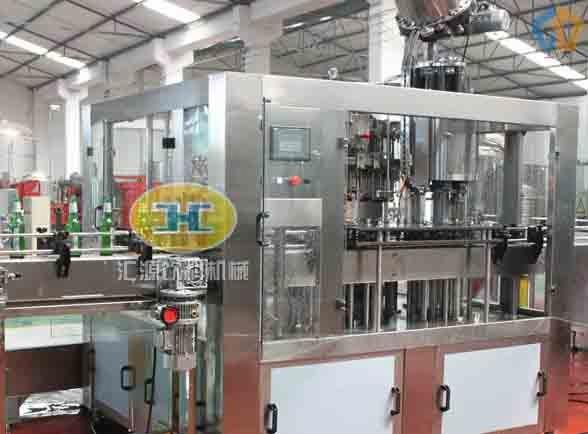 系列-玻璃瓶啤酒灌装机-张家港市汇源饮料机械厂