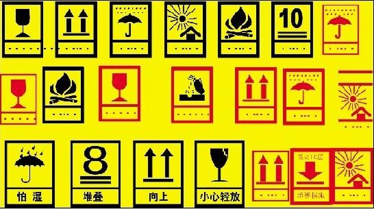 识别标志      (1)贸易标志是该批货物的特定记号,或是出口公司或国外商号的代号。多采用三角形、菱形、四边形及圆形等简明图形,配以代用简字。      (2)商品品名和商标用图案和文字表示,要求显着醒目,一般用中外文对照。      (3)目的地标志用来表示货物运往目的地的地名标志。为了准确无误地运输商品到目的地,地名必须用文字写出全称。一般在纸箱右上角标志收贷地点。      (4)货号和数量标志用来表示商品贷号、箱内商品数量。计量方法有用盒、只、支、双、套、打等。一般郡用中外文对照,外文往往由于