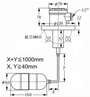 无锡液位开关侧装浮球式-无锡科汇自动化控制设备-无锡料位开关-无锡