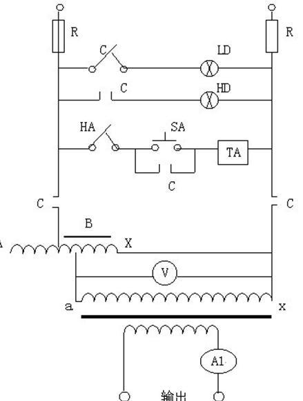 通过调整调压器输出电压以获得试验所需的大电流