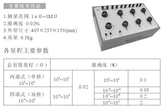 qj36-单双臂直流电桥-上海沪跃电气科技有限公司